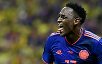 KAZAN - RUSIA, 24-06-2018: Yerry MINA jugador de Colombia celebra después de anotar un gol a Polonia durante partido de la primera fase, Grupo H, por la Copa Mundial de la FIFA Rusia 2018 jugado en el estadio Kazan Arena en Kazán, Rusia. /  Yerry MINA player of Colombia celebrates after scoring a goal to Polonia during match of the first phase, Group H, for the FIFA World Cup Russia 2018 played at Kazan Arena stadium in Kazan, Russia. Photo: VizzorImage / Julian Medina / Cont