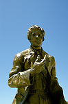 CA, Oakland 11-04: Statue of Jack London, Jack London Square  .Photo Copyright: Lee Foster, lee@fostertravel.com, www.fostertravel.com, (510) 549-2202.Image: caoakl301