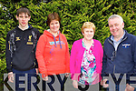 taking part in the Sheila Moynihan walk in Rathmore on Sunday were l-r: Tadhg, Mairead O'keeffe, Han Donnelly and Donal O'Keeffe