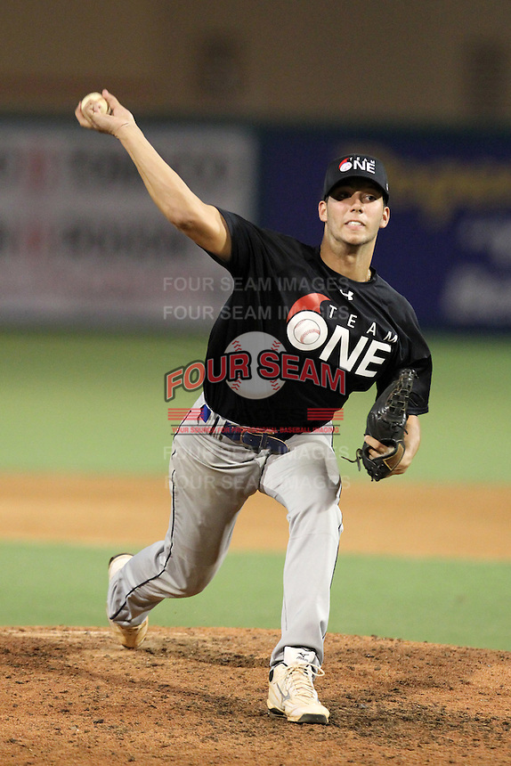 Mark Savarese during the Team One Futures Showcase East at Roger Dean Stadium on October 1, 2011 in Jupiter, Florida.  (Mike Janes/Four Seam Images)