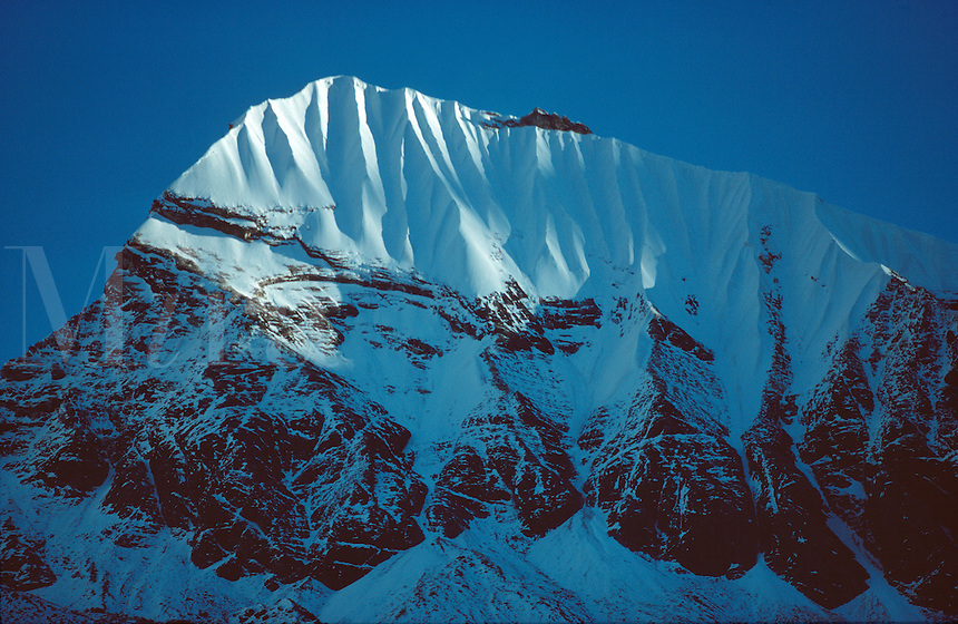 .Un-named peak above the Annapurna Sanctuary, Nepal Himalaya...