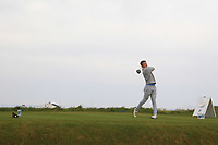 John McCarthy (Grange) on the 1st tee during Round 1of the Flogas Irish Amateur Open Championship 2019 at the Co.Sligo Golf Club, Rosses Point, Sligo, Ireland. 16/05/19<br /> <br /> Picture: Thos Caffrey / Golffile<br /> <br /> All photos usage must carry mandatory copyright credit (© Golffile | Thos Caffrey)