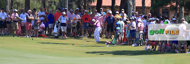 Rory Sabbatini (RSA) on the 9th during the final round of The Players, TPC Sawgrass, Ponte Vedra Beach, Florida, United States. 10/05/2015<br /> Picture Fran Caffrey, www.golffile.ie