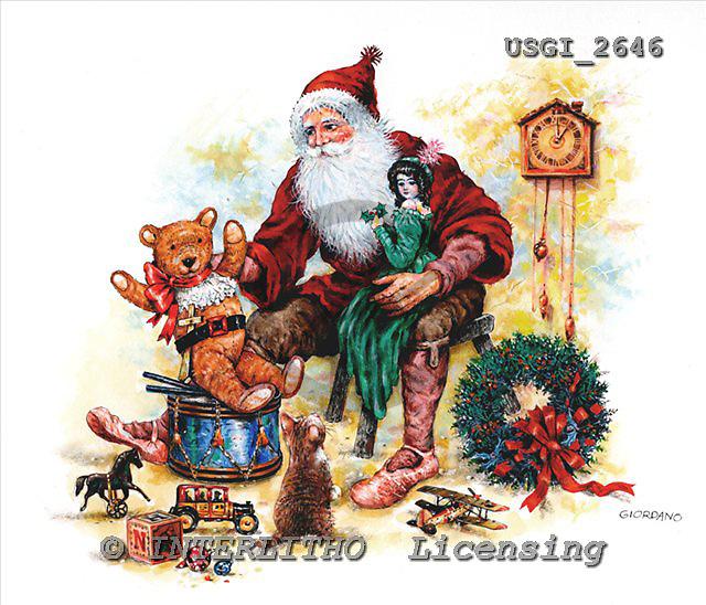 GIORDANO, CHRISTMAS SANTA, SNOWMAN, WEIHNACHTSMÄNNER, SCHNEEMÄNNER, PAPÁ NOEL, MUÑECOS DE NIEVE, nostalgic, paintings+++++,USGI2646,#X# nostalgic,vintage