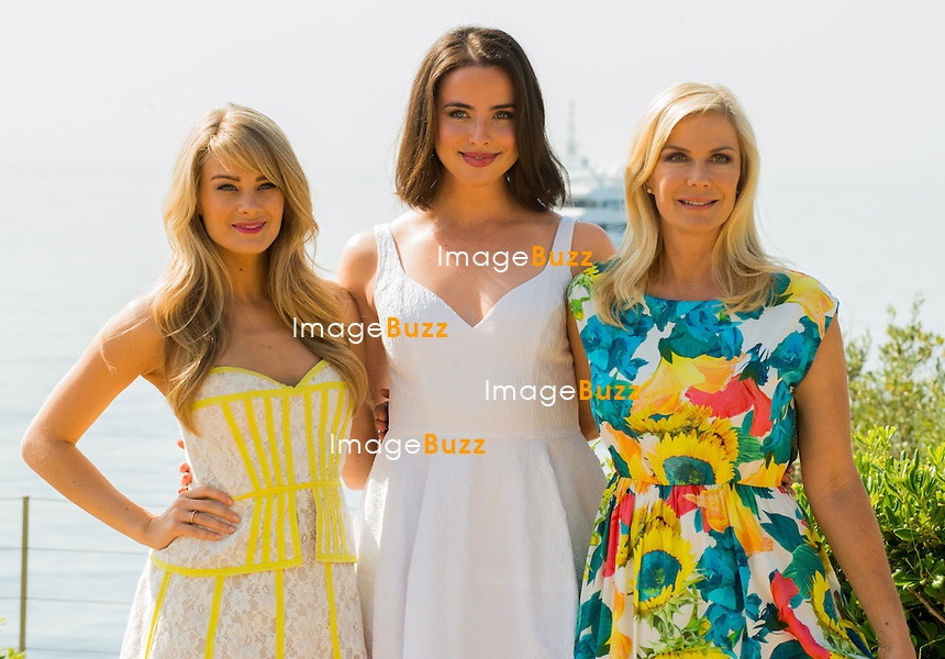 US actresses Kimberly Matula (L), Ashleigh Brewer (C) and Katherine Kelly Lang (R) pose during a photocall for the TV show 'The Bold and the Beautiful' as part of the 54th Monte-Carlo Television Festival on June 8, 2014 in Monaco. The Monte-Carlo Television Festival, held since 1961, runs from June 7 to 11, 2014.