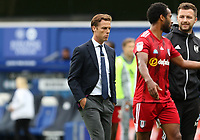 Scott Parker manager of Fulham walks of at half time during Queens Park Rangers vs Fulham, Sky Bet EFL Championship Football at the Kiyan Prince Foundation Stadium on 30th June 2020