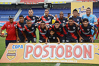 BARRANQUILLA -COLOMBIA-13-AGOSTO-2014. Formacion del Atletico Junior   contra el Barranquilla FC    ,  partido de la Copa Postobon octava fecha disputado en el estadio Metropolitano. /Team of Atletico Junior against of Barranquilla FC , match of the Copa Postobon eighth round match at the Metropolitano stadium  Photo: VizzorImage / Alfonso Cervantes / Stringer