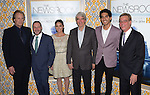 Jeff Daniels, Alan Poul,Olivia Munn,Sam Waterston,Dev Patel and Alan Sorkin<br />  an at The  Los Angeles Season 3 Premiere of HBO's series THE NEWSROOM held at The DGA in West Hollywood, California on November 04,2014                                                                               &copy; 2014 Hollywood Press Agency
