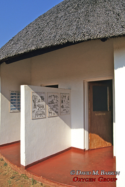 Lifupa Lodge Restrooms With Wildlife Posters