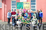 Scoil Caitlín Naofa, Cill Mhic a' Domhnaigh, pupils and teachers welcoming Kerry players Marc Ó Sé and Brian Rael (minors) bringing Sam Maguire and Tom Markham cups to the school on Wednesday.