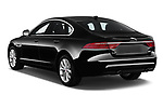 Car pictures of rear three quarter view of a 2020 Jaguar XF Premium 4 Door Sedan angular rear