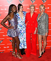AJ Odudu, Jessie J, Emma Willis and Pixie Lott attend photocall to launch The Voice Kids, new ITV series of the children's talent show, at The RSA, London on June 06, 2019.<br /> CAP/JOR<br /> ©JOR/Capital Pictures