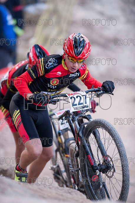 Chelva, SPAIN - MARCH 6: Francisco Jose Montero during Spanish Open BTT XCO on March 6, 2016 in Chelva, Spain