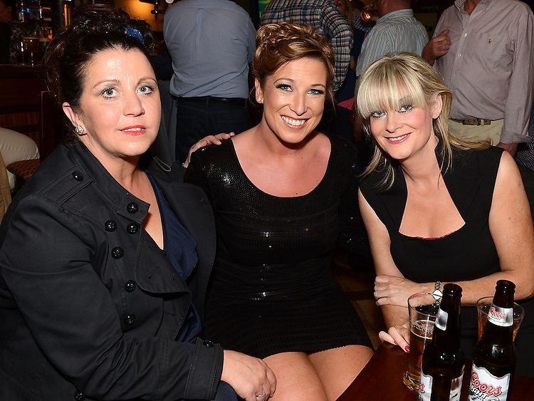Caroline Grogan, Jayne Finnegan and Sarah Brady at Seapoint Golf  Captains prizegiving in Tommy Hannratty's Bar & Lounge. Photo:Colin Bell/pressphotos.ie