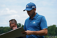 Sergio Garcia (ESP) with fans at the 17th green during Wednesday's Practice Day of the 2017 PGA Championship held at Quail Hollow Golf Club, Charlotte, North Carolina, USA. 9th August 2017.<br /> Picture: Eoin Clarke | Golffile<br /> <br /> <br /> All photos usage must carry mandatory copyright credit (&copy; Golffile | Eoin Clarke)