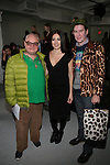 Paper Magazine's Mickey Boardman, Designer Catherine Malandrino and Scene Magazine's Peter Davis Attend Mercedes-Benz New York Fashion Week Autumn/Winter 2013 - Catherine Malandrino Presentation Held at Center 548, NY 2/10/13