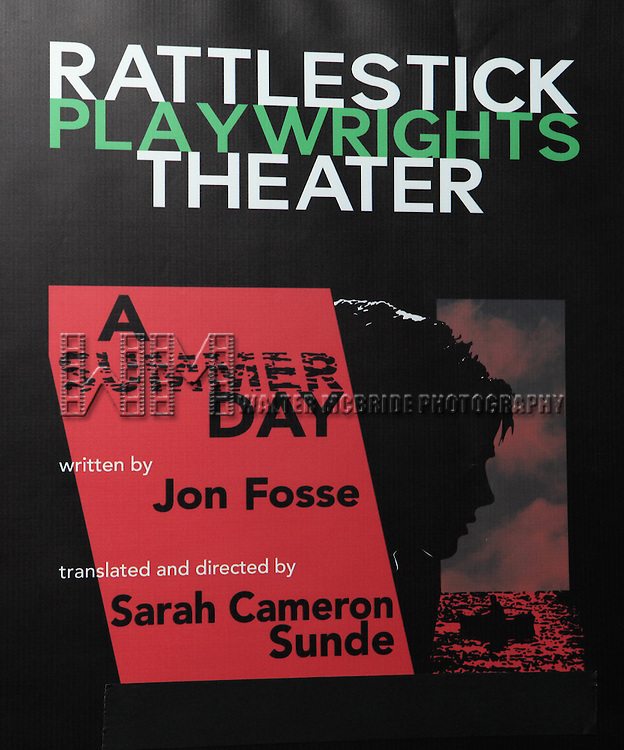 Opening Night Performance of The Rattlestick Playwrights Theater Production of 'A Summer Day' at the Cherry Lane Theatre on 10/25/2012 in New York.