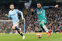 Tottenham Hotspur's Danny Rose controls under pressure from Manchester City's Bernardo Silva<br /> <br /> Photographer Rich Linley/CameraSport<br /> <br /> UEFA Champions League to3- Quarter-finals 2nd Leg - Manchester City v Tottenham Hotspur - Wednesday April 17th 2019 - The Etihad - Manchester<br />  <br /> World Copyright © 2018 CameraSport. All rights reserved. 43 Linden Ave. Countesthorpe. Leicester. England. LE8 5PG - Tel: +44 (0) 116 277 4147 - admin@camerasport.com - www.camerasport.com