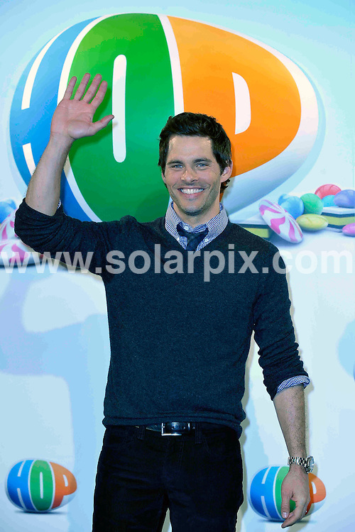 "**ALL ROUND PICTURES FROM SOLARPIX.COM**                                             **WORLDWIDE SYNDICATION RIGHTS EXCEPT SPAIN - NO SYNDICATION IN SPAIN**                                                                                  Caption:  The american actor James Mardsen  present his new film ""hop"" in Madrid with the cartoon movie muppets.                                                                             This pic:James Mardsen                                                                                              JOB REF: 13023       DMS/Drake       DATE: 24.03.2011                                                           **MUST CREDIT SOLARPIX.COM OR DOUBLE FEE WILL BE CHARGED**                                                                      **MUST AGREE FEE BEFORE ONLINE USAGE**                               **CALL US ON: +34 952 811 768 or LOW RATE FROM UK 0844 617 7637**"