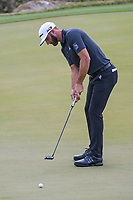 Dustin Johnson (USA) watches his putt on 2 during day 2 of the World Golf Championships, Dell Match Play, Austin Country Club, Austin, Texas. 3/22/2018.<br /> Picture: Golffile | Ken Murray<br /> <br /> <br /> All photo usage must carry mandatory copyright credit (&copy; Golffile | Ken Murray)