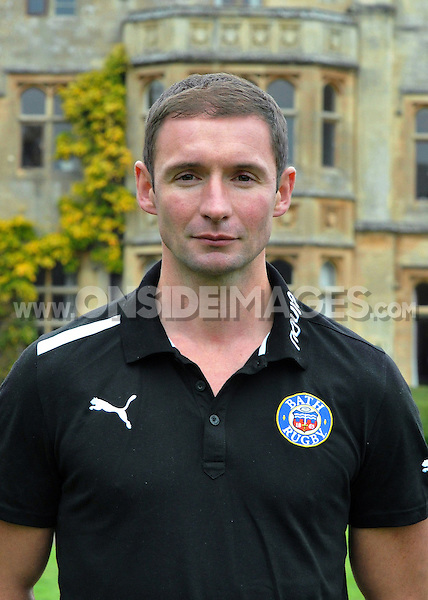 Senior Academy Coach David Williams poses for a portrait. Bath Rugby Photocall on October 25, 2012 at Farleigh House in Bath, England. Photo by: Patrick Khachfe/Onside Images