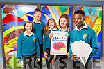 Orla O'Reilly and Leon Shalemba with  Ailíse Ryan, Tristan Raymond and Lauren Fusco Launch the Mercy Mounthawk Bingo Fundraiser on Sunday 11th December at 3pm in the School Gym