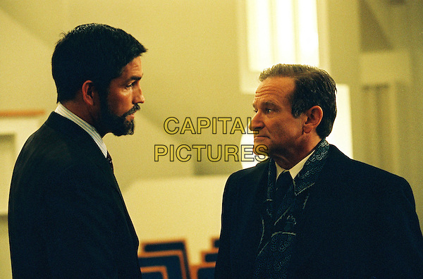 JIM CAVIEZEL & ROBIN WILLIAMS.in The Final Cut.*Editorial Use Only*.www.capitalpictures.com.sales@capitalpictures.com.Supplied by Capital Pictures.