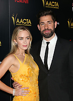 4 January 2019 - West Hollywood, California - Emily Blunt, John Krasinski. the 8th AACTA International Awards held at Skybar at Mondrian. Photo Credit: Faye Sadou/AdMedia
