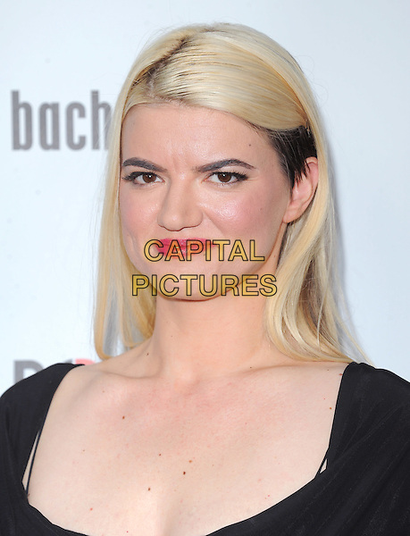 Leslye Headland.'Bachelorette' film premiere at The Arclight Theatre in Hollywood, California, USA..23rd August 2012.headshot portrait black blonde dyed red lipstick hair .CAP/DVS.©DVS/Capital Pictures.
