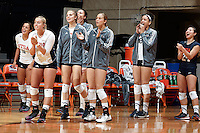 SAN ANTONIO, TX - OCTOBER 21, 2015: The University of North Carolina at Charlotte 49ers fall to the University of Texas at San Antonio Roadrunners 3-0 (25-19, 25-19, 25-19) at the UTSA Convocation Center. (Photo by Jeff Huehn)