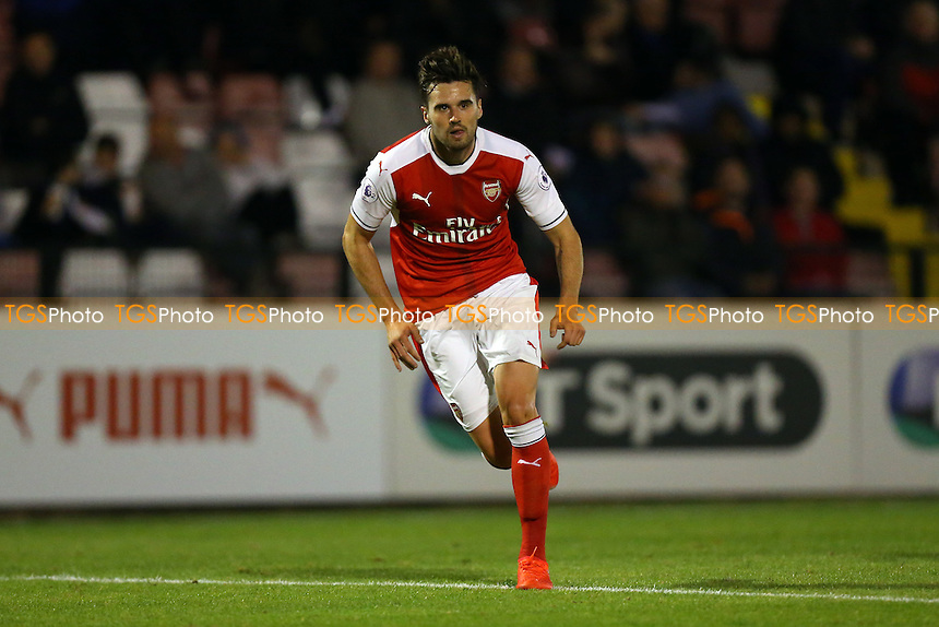 Carl Jenkinson of Arsenal during Arsenal Under-23 vs Southampton Under-23, Premier League 2 Football at Meadow Park on 14th October 2016