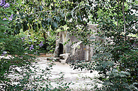 General view of Ile des lemuriens, (Lemur Island), surrounded by vegetation, Parc Zoologique de Paris, or Zoo de Vincennes, (Zoological Gardens of Paris, also known as Vincennes Zoo), 1934, by Charles Letrosne, 12th arrondissement, Paris, France, pictured on August 24, 2011 in the morning. In November 2008 the 15 hectare Zoo, part of the Museum National d'Histoire Naturelle (National Museum of Natural History) closed its doors to the public and renovation works will start in September 2011. The Zoo is scheduled to re-open in April 2014. Picture by Manuel Cohen.
