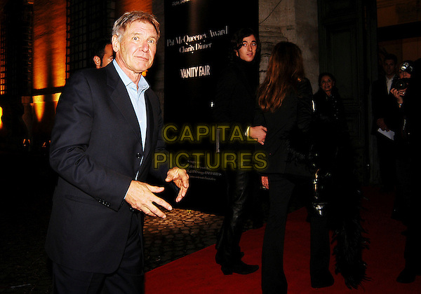 HARRISON FORD .arrives at the Patricia McQueeney Award Dinner Party Hosted By Vanity Fair on the eighth day of Rome Film Festival (Festa Internazionale di Roma) at the Etruscan Museum Valle Giulia, Rome, Italy, October 20th 2006..half length red carpet hands.Ref: CAV.www.capitalpictures.com.sales@capitalpictures.com.©Luca Cavallari/Capital Pictures.