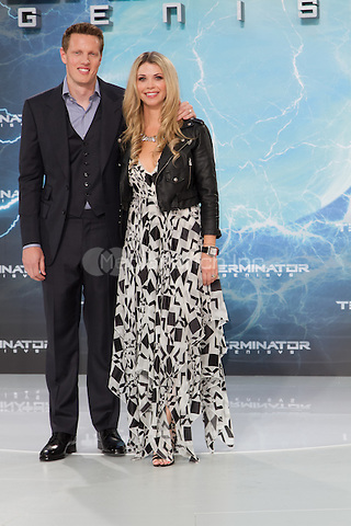 Producer David Ellison and wife Sandra Lynn Modic attending the Terminator: Genisys Premiere held at CineStar, Sony Center, Berlin, Germany, 21.06.2015. <br /> Photo by Christopher Tamcke/insight media /MediaPunch ***FOR USA ONLY***