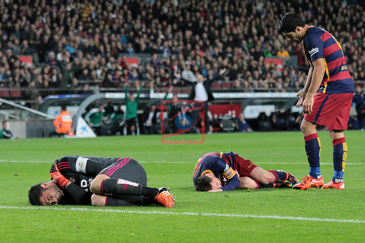 League BBVA 2015/2016. Game: 17.<br /> FC Barcelona vs Real Betis: 4-0.<br /> Adan, Lionel Messi &amp; Luis Suarez.