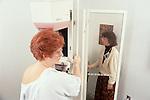 Woman undergoes mammogram