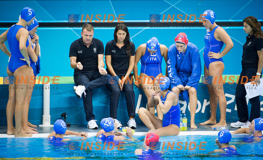 Team Italy.Great Britain Vs. Italy.Water Polo women preliminary Round.London 2012 Olympics - Olimpiadi Londra 2012.day 08 Aug 3.Photo G.Scala/Deepbluemedia.eu/Insidefoto