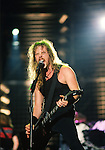 Various live photographs of the rock band, Metallica