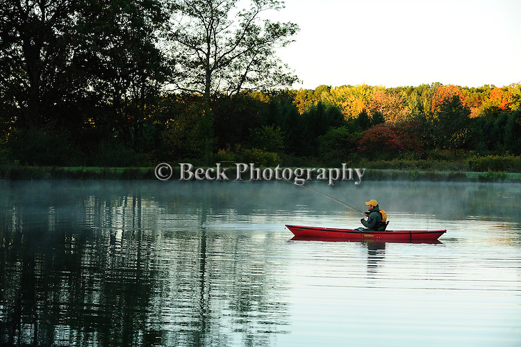 Fall kayak, Springdale Farms spring pond , fly fishing
