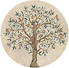 28 in Tree of Life Mosaic shown in honed 1 cm tesserae.