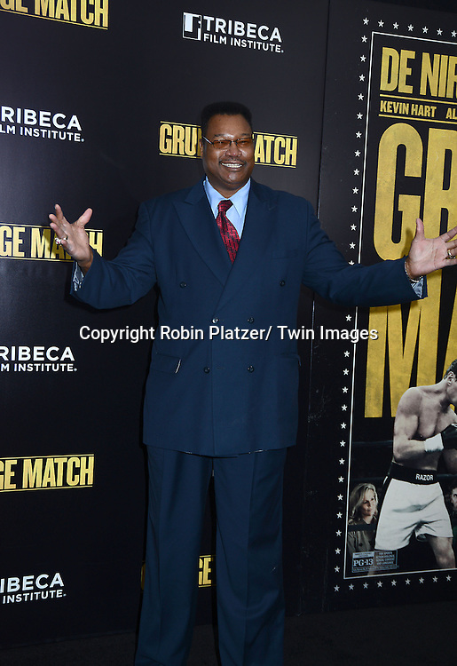 "Larry Holmes attends the World Premiere of ""Grudge Match"" at the Ziegfeld Theatre in New Yok City on December 16, 2013."