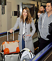 Narita, Japan - April 14th 2012 : Actress Jessica Alba arrives at Narita Airport in Japan with her daughters Haven Garner Warren and Honor Marie Warren and her husband Cash Warren.