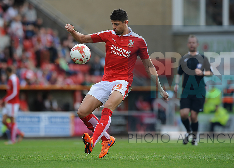 Raphael Rossi Branco of Swindon Town<br /> - English League One - Swindon Town vs Sheffield Utd - County Ground Stadium - Swindon - England - 29th August 2015