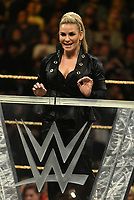 NEW YORK, NY - APRIL 6: Natalya Neidhart at the 2019 WWE Hall Of Fame Ceremony at the Barclay's Center in Brooklyn, New York City on April 6, 2019.      <br /> CAP/MPI/GN<br /> ©GN/MPI/Capital Pictures