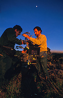 Film-maker Paul Atkins during filming of Nat. Geo. Special Strangers in Paradise.