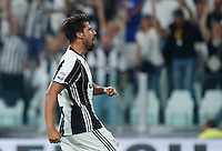 Calcio, Serie A: Juventus vs Fiorentina. Torino, Juventus Stadium, 20 agosto 2016.<br /> Juventus&rsquo; Sami Khedira celebrates after scoring during the Italian Serie A football match between Juventus and Fiorentina at Turin's Juventus Stadium, 20 August 2016. Juventus won 2-1.<br /> UPDATE IMAGES PRESS/Isabella Bonotto