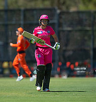 24th November 2019; Lilac Hill Park, Perth, Western Australia, Australia; Womens Big Bash League Cricket, Perth Scorchers versus Sydney Sixers; Alyssa Healy of the Sydney Sixers walks off after being dismissed with the first ball of the day - Editorial Use