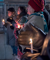 Vigil of Reconciliation was held for Colten Boushie at City Hall, Thursday evening. About 20 local people turned out