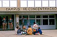 Greve de estudantes da Universidade de São Paulo, USP, São Paulo. 1985. Foto de Daniel Augusto Jr.