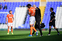 Blackpool's Nathan Delfouneso walks off the pitch after suffering an injury<br /> <br /> Photographer Chris Vaughan/CameraSport<br /> <br /> The EFL Sky Bet League One - Coventry City v Blackpool - Saturday 7th September 2019 - St Andrew's - Birmingham<br /> <br /> World Copyright © 2019 CameraSport. All rights reserved. 43 Linden Ave. Countesthorpe. Leicester. England. LE8 5PG - Tel: +44 (0) 116 277 4147 - admin@camerasport.com - www.camerasport.com